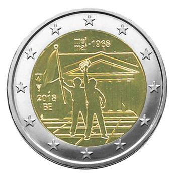 2 EURO COMMEMORATIVE 2018 : BELGIQUE - 50 ans Mai 68 (Version flamande)