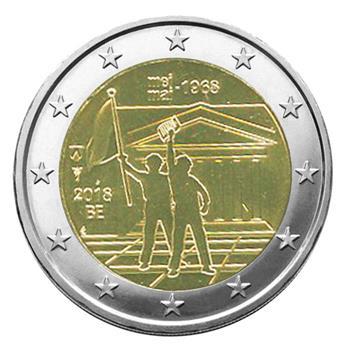 2 EURO COMMEMORATIVE 2018 : BELGIQUE - 50 ans mai 68 (Version francophone)