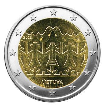2 EURO COMMEMORATIVE 2018 : LITUANIE (Fête de la Chanson et de la Danse)