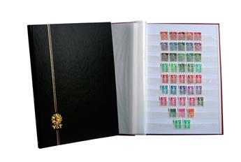PERFECTA : Classeur fixe pour timbres (Grand modèle-Pages Blanches-16p. Bleu)