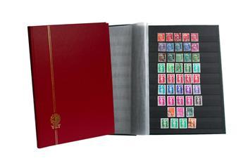 PERFECTA : Classeur fixe pour timbres (Grand modèle-Pages Noires-48p.)