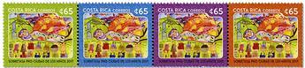 n° 986/989 - Timbre COSTA RICA Poste