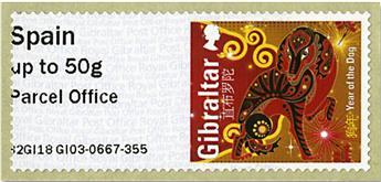 n° 78 - Timbre GIBRALTAR Timbres de distributeurs