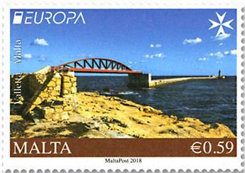 n° 1909/1910 - Timbre MALTE Poste (EUROPA)