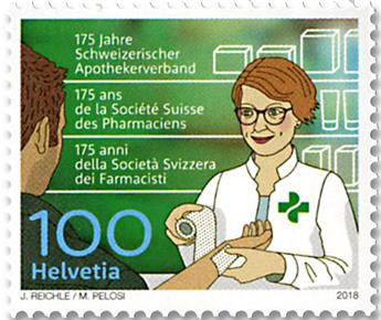 n° 2474 - Timbre SUISSE Poste