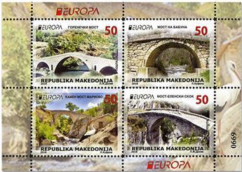n° 801/804 - Timbre MACEDOINE Poste (EUROPA)