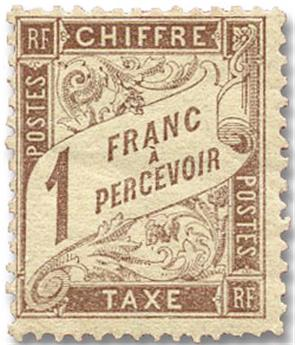 n°25* - Timbre FRANCE Taxe