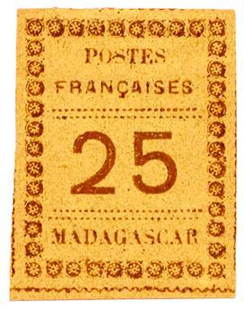 n°11(*) - Timbre MADAGASCAR Poste