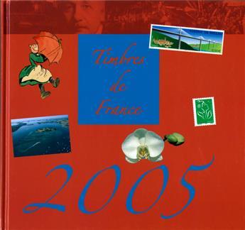 LE LIVRE DES TIMBRE DE L´ANNEE 2005