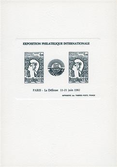 n° 8 (Epreuve en noir) - Timbre France Bloc et feuiilet