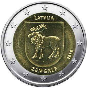 2 EURO COMMEMORATIVE 2018 : LETTONIE (Région historique de Zemgale)