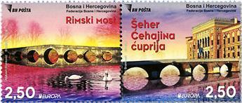 n° 787/788 - Timbre BOSNIE-HERZEGOVINE Poste (EUROPA)