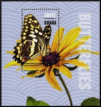 n° 546 - Timbre GHANA Blocs et feuillets