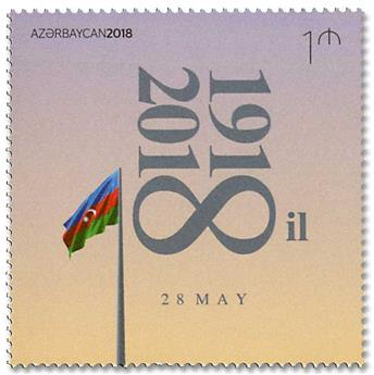 n° 1108 - Timbre AZERBAIDJAN Poste