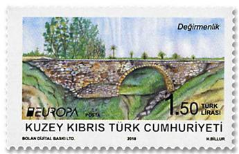 n° 799/800 - Timbre CHYPRE TURC Poste (EUROPA)