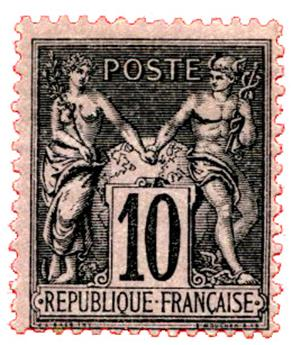 n°89** - Timbre FRANCE Poste