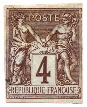 n°39 obl. - Timbre COLONIES FRANCAISES Poste
