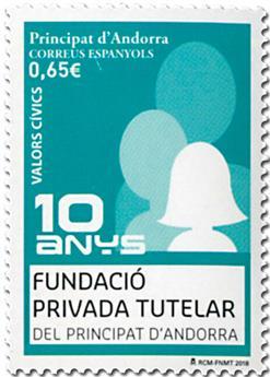 n° 461 - Timbre ANDORRE ESPAGNOL Poste