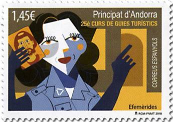 n° 463 - Timbre ANDORRE ESPAGNOL Poste