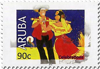 n° 1014/1017 - Timbre ARUBA Poste