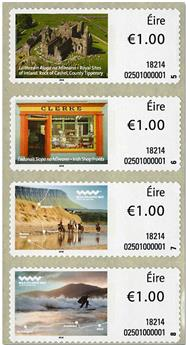 n° 105/108 - Timbre IRLANDE Timbres de distributeurs