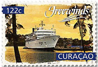 n° 599/600 - Timbre CURACAO Poste