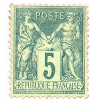 n°75* - Timbre FRANCE Poste