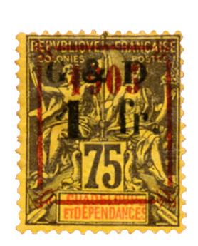 n°53a* - Timbre GUADELOUPE Poste