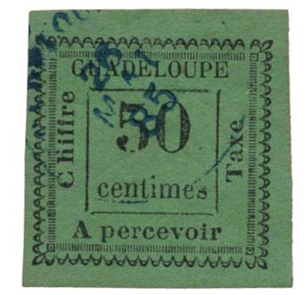 n°12 obl. - Timbre GUADELOUPE Taxe