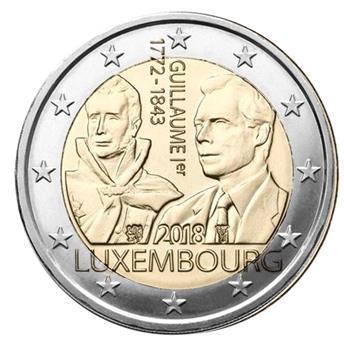 2 EURO COMMEMORATIVE 2018 : LUXEMBOURG (175e anniversaire de la mort du Grand Duc Guillaume 1er)
