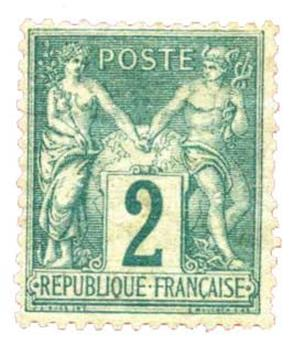 n°74* - Timbre France Poste