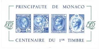 n°33a** - Timbre Monaco Blocs et feuillets