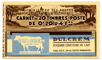 n°190-C1** - Timbre FRANCE Carnets