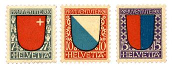 n°176/178** - Timbre SUISSE  Poste