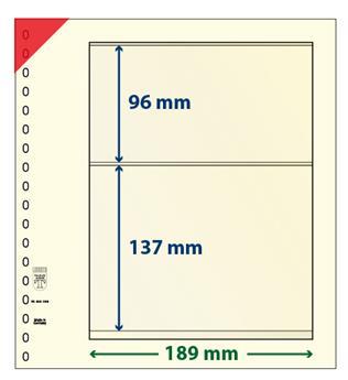 Feuille neutre LINDNER-T : 2 bandes-802209 (x10)