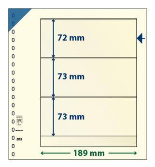 Feuille neutre LINDNER-T : 3 bandes-802320 (x10)