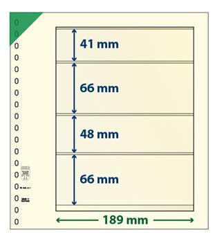 Feuille neutre LINDNER-T : 4 bandes-802411 (x10)