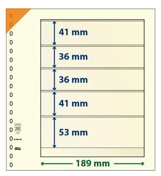Feuille neutre LINDNER-T : 5 poches-802502 (x10)