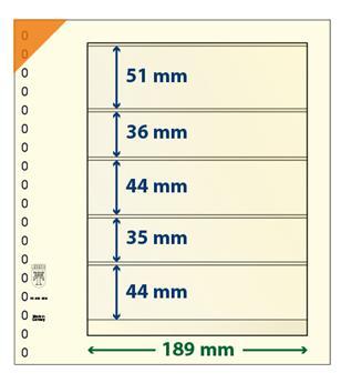 Feuille neutre LINDNER-T : 5 poches-802509 (x10)