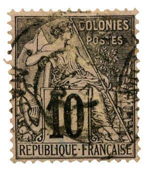 n°1 obl. B - Timbre MADAGASCAR Poste