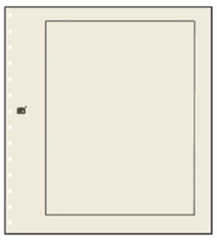 FEUILLES NEUTRES : Chamois Clair avec cadre noir (x10) SAFE® (Hors cat. / Ref 780)