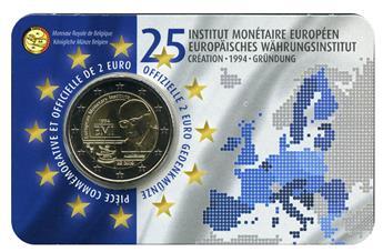 2 EURO COMMEMORATIVE 2019 : BELGIQUE - 25 ans EMI Institut Monétaire Européen (Version francophone)