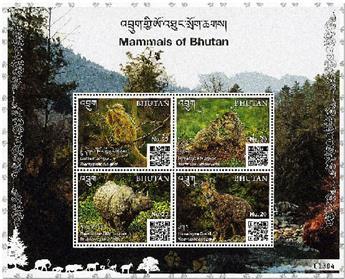 n° 2282/2285 - Timbre BHOUTAN Poste