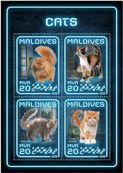 n° 6222/6225 - Timbre MALDIVES Poste