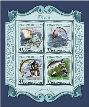 n° 7646/7649 - Timbre MOZAMBIQUE Poste