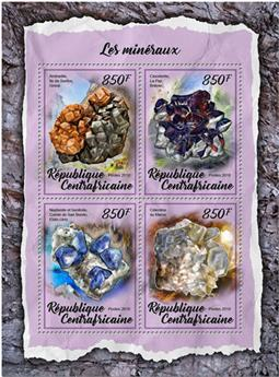 n° 5437/5440 - Timbre CENTRAFRICAINE Poste