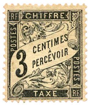 n°12* - Timbre FRANCE Taxe