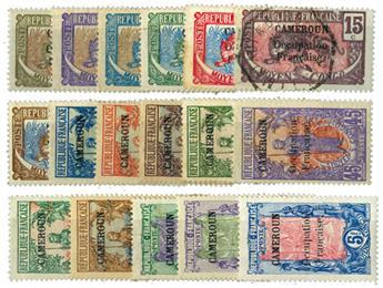 n°67/83* (sf n°71/72 obl.) - Timbre CAMEROUN Poste