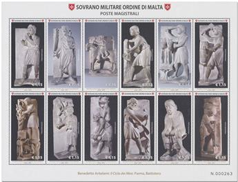 n° 1454/1465 - Timbre ORDRE de MALTE Poste