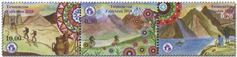 n° 599/600 et n° 601/603 - Timbre TADJIKISTAN Poste